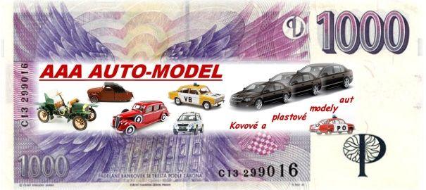 Dárkový šek 1 000,- Kč AAA AUTO-MODEL