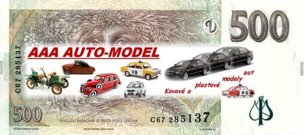 Dárkový šek 500,- Kč AAA AUTO-MODEL