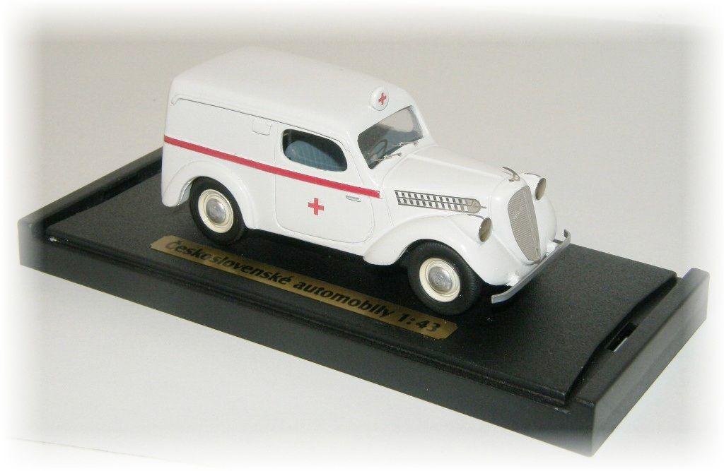 """ŠKODA POPULAR OHV ambulance """"1939"""" CVKP"""