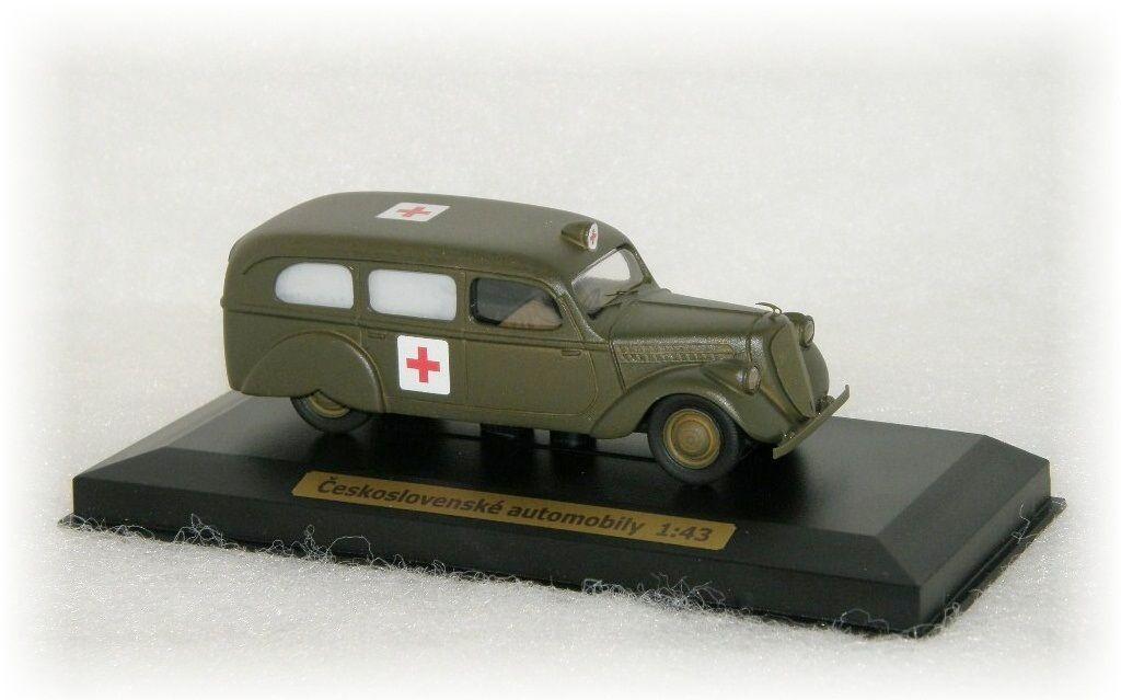 """ŠKODA POPULAR OHV - ambulance army """"1937"""" CVKP"""
