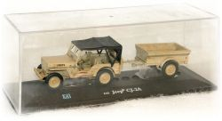 """Jeep Willys CJ 2A s přívěsem """"1945"""" Cararama"""